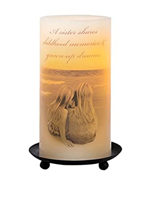 Candle Impressions Flameless Candle Pillar with Sister Sentiment