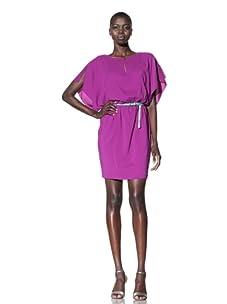 Suzi Chin Women's Short Sleeve Blouson Dress (Fusion)
