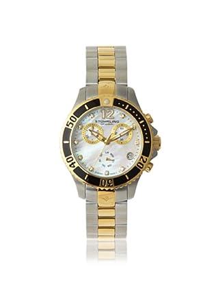 Stuhrling Original Women's 162Cr.112C27 Regatta Mother of Pearl and Diamond Gold-Tone Watch