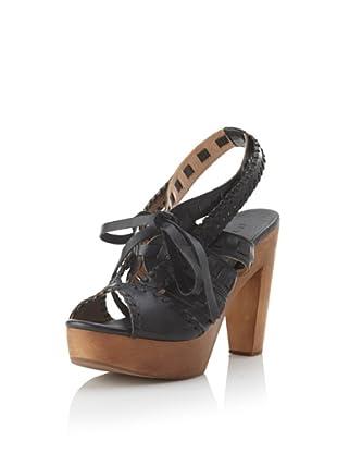 Fiel Women's Makira Woven Strap Heel (Black)