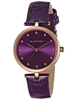 Giordano Analog Purple Dial Women's Watch - A2038-09