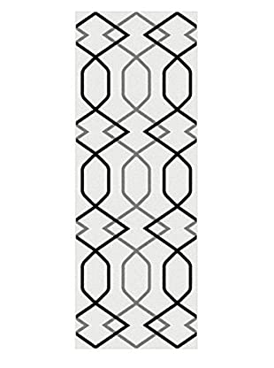 Universal Rugs Metro Contemporary Runner, White, 3' x 8'