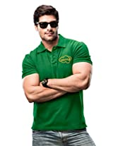 MEN POLO T-SHIRT GREEN XL