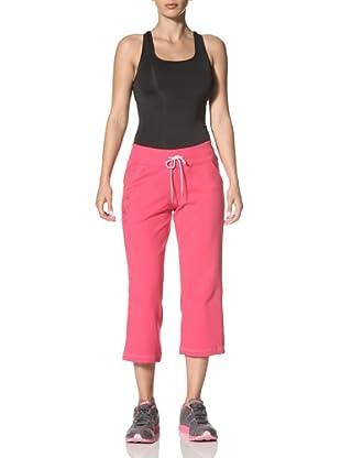 New Balance Yoga Women's French Terry Capri Pants (Bright Rose)