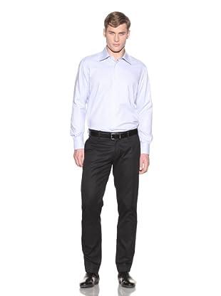 Valentino Men's Dress Shirt (Lt Blue/White Small Square)