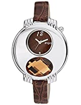 Ego by Maxima Analog Brown Dial Women's Watch - E-38470LALI