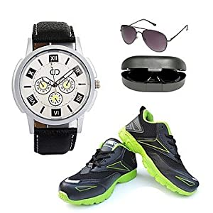 Anno Dominii combo of men sunglass, shoes and wrist watch