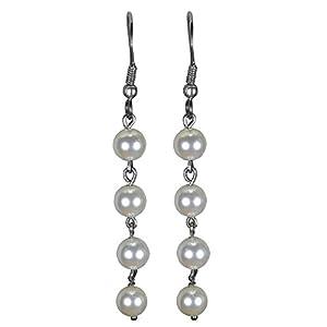 "Pearl Paradise ""Pearl dangling earring."""