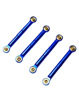 Atomik RC Alloy Front/Rear Push Rod, Blue fits the Traxxas 1/16 Slash 4x4 and Other Traxxas Models - Replaces Traxxas Part 7018