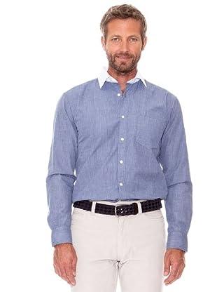 Cortefiel Camisa Liso (azul marino)