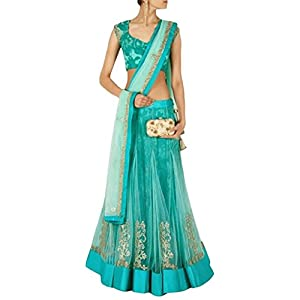 Narayani Bollywood Replica Lehenga - Sky Blue