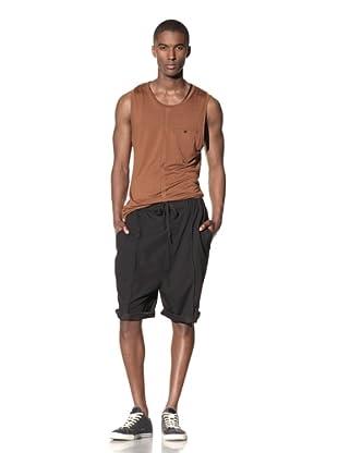 B: Scott Men's Extended Rise Swimming Trunks (Black)