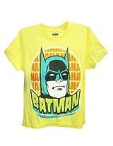 Batman Yellow Half Sleeve T-Shirt