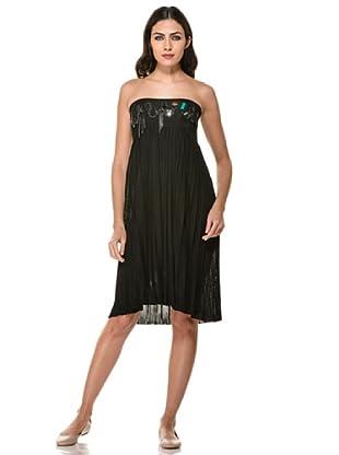 Annarita Vestido Palabra De Honor (Negro)