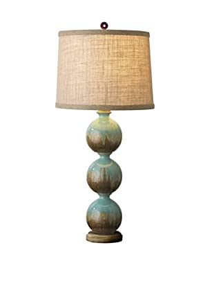 Shades of Light Triple Raku Ball Table Lamp