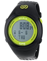 Soleus Soleus Unisex Sg100351 Gps Fit 1.0 Lime And Black Resin Digital Watch - Sg100351
