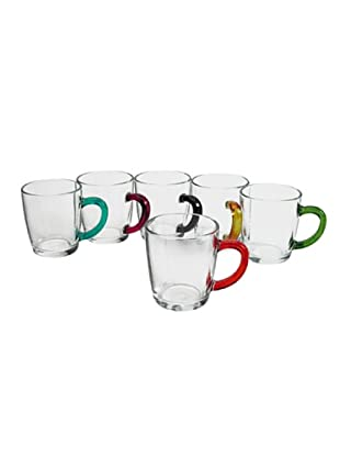 Pasabahce Set 6 Tazze Mug Basic Multicolore