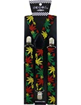 JTC Belt Great Quality Unisex Suspenders Printed Color Leafs