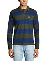 Indigo Nation Men's Banded Collar Cotton T-Shirt