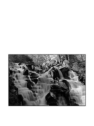 Silky Waterfall, Virginia Photography On Mounted Metal