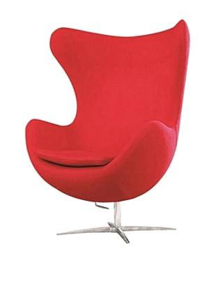 Manhattan Living Fabric Inner Chair, Red