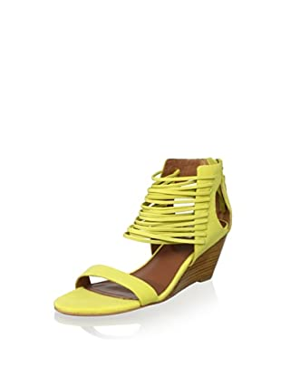 Matiko Women's Bryn Strappy Mid Wedge (Citrus)