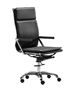 Zuo Lider Plus High-Back Office Chair, Black