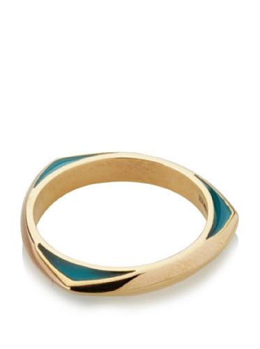 Katie Rowland Lilith Enamel Tri Stacker Ring (Blue Pop)