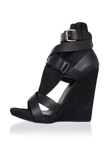 Joe's Jeans Women's Helena Wedge Sandal (Black)