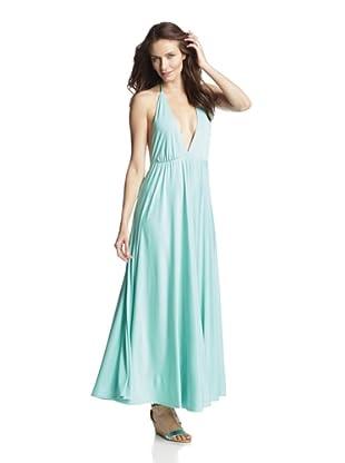 JOSA Tulum Women's Houston Halter Maxi Dress (Mint)