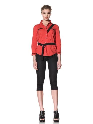 McQ by Alexander McQueen Women's Button-Up Bondage Shirt (Red)