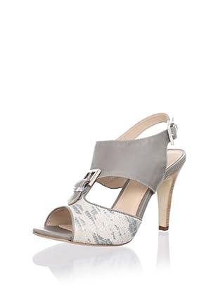 Rebecca Minkoff Women's Brooke Heeled Sandal (Palest Grey/Lizard)