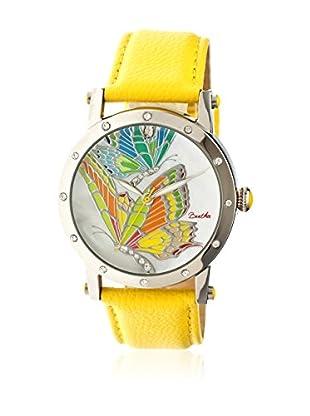 Bertha Uhr mit Japanischem Quarzuhrwerk Isabella gelb 41 mm