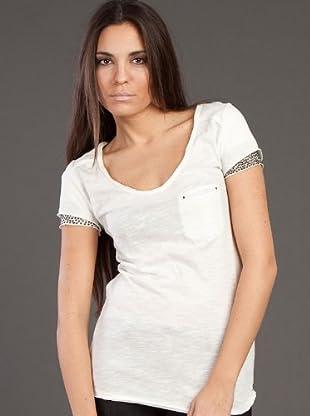 Ikks Camiseta Lentejuelas (blanco)