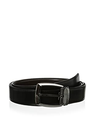 Mont Blanc Men's Extra Long Classic Reversible Belt (Black/brown)