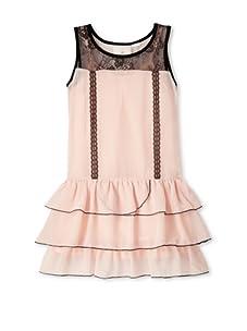 Kiddo Girls Ruffle Dress (Dusty Pink)