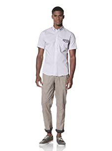 SLDVR Men's Fowler Button-Front Shirt (Grey)