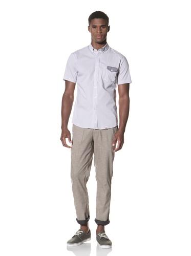 SLDVR Men's Fowler Button-Front Shirt (Grey)