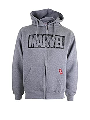 Marvel Giacca Felpa Logo Distress