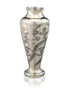 """Barreveld International 16.5"""" Vase on Pedestal, Sunrise Gold"""