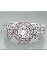 0.80TCW I/VVS1 GIA Certified Diamond Engagement Ring