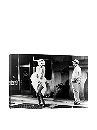 Retro Images Marilyn Monroe's Dress Billowing Up From Air Coming Up From The Subway Grate Archive Gallery-Wrapped Canvas Print