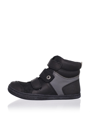 Kickers Kid's Jersey-AW High Top (Toddler/Little Kid) (Black)