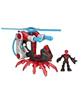 Playskool Heroes Marvel Super Hero Adventures Arachno-Blade Copter Vehicle with Big Time Spider-Man Action Figure