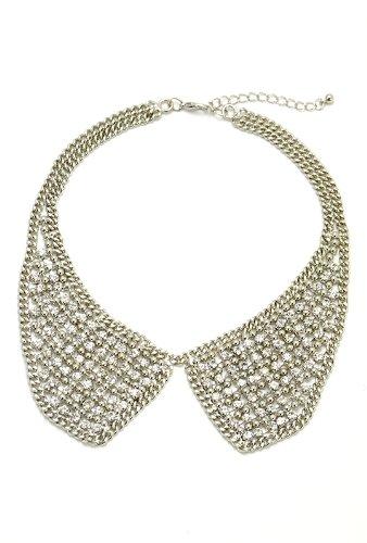[フータリンカ] Hootalinqua ラインストーン付け襟ネックレス
