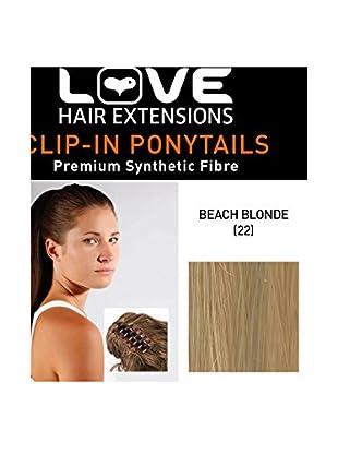 Love Hair Extensions Kunsthaar-Pferdeschwanz India mit Krokodilklemme 40,5cm, 22 Beach Blonde