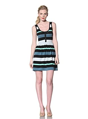 French Connection Women's Sunset Stripe Babydoll Dress