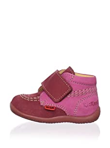 Kickers Kid's Bilou AW Bootie (Infant/Toddler) (Bordeaux)