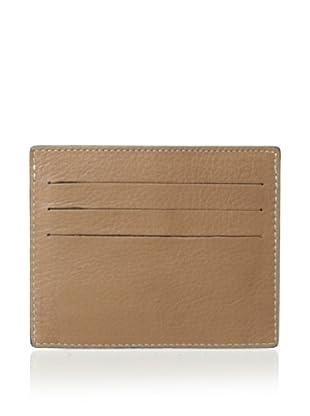 Leone Braconi Men's Nappa Merinos Card Holder (Beige)