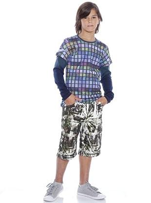 Custo Camiseta Liva águila (azul / morado)